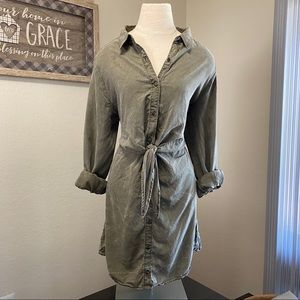 Express Olive Utility Dress